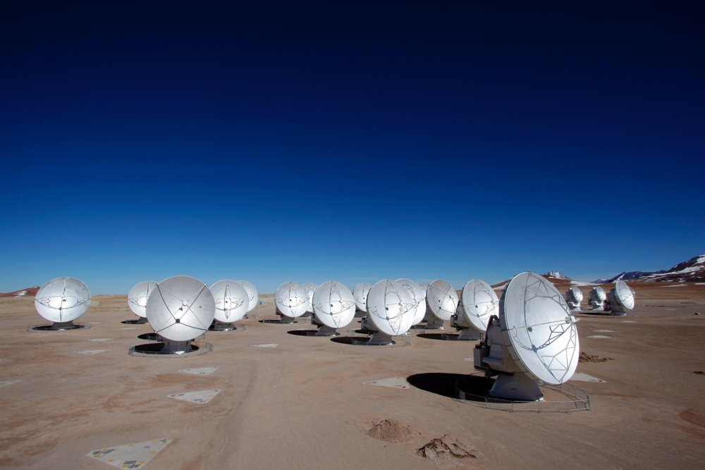 Largest radio telescopes: ALMA - Credit: (NRAO/AUI/NSF)