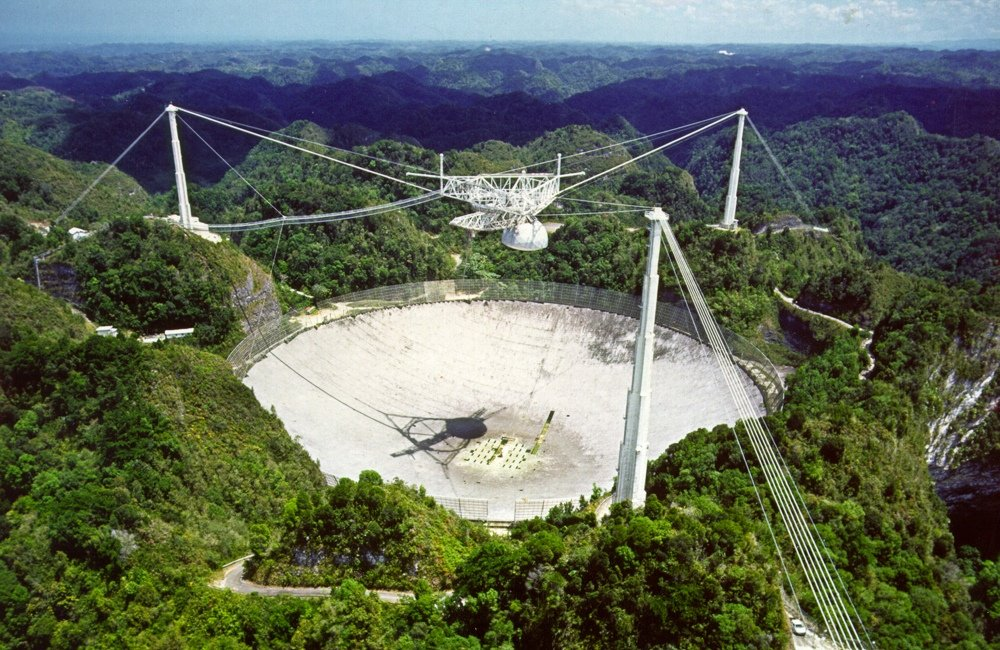 Largest radio telescopes - GBT (Credit: Arecibo Observatory)