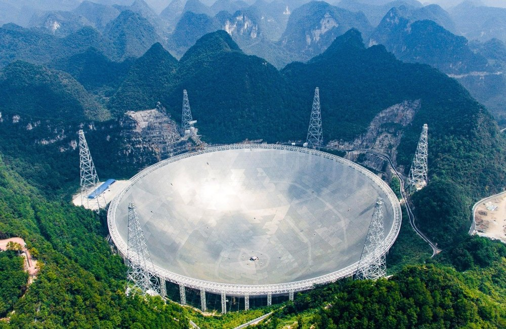 Largest radio telescopes: FAST (Credit LIU XU)