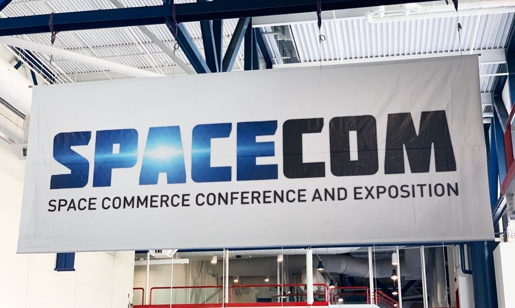 SpaceCom 2018: all'entrata dell'evento.
