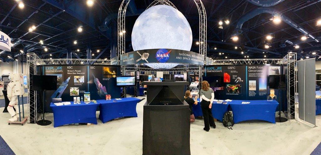 SpaceCom 2018: lo stand della NASA.