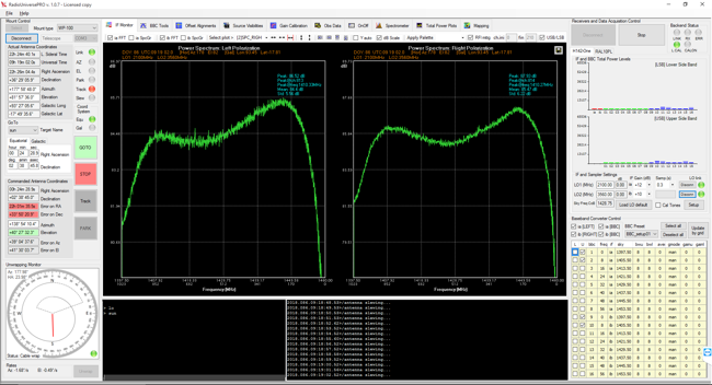 Experiments, solar radio emission with SPIDER radio telescope: RadioUniversePRO control software