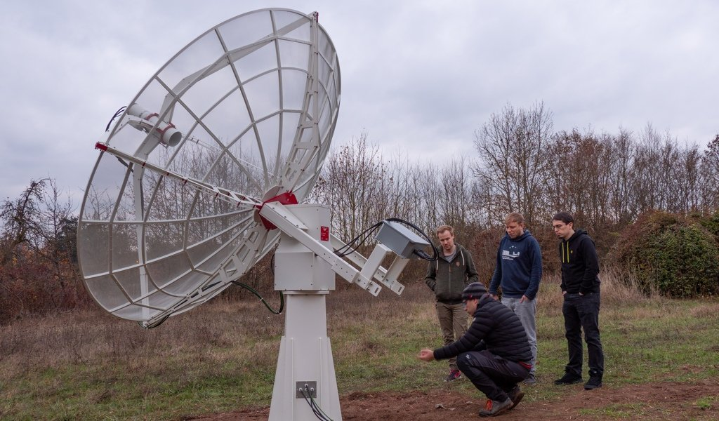 SPIDER 300A al Dr. Karl Remeis Observatory: durante il training all'antenna