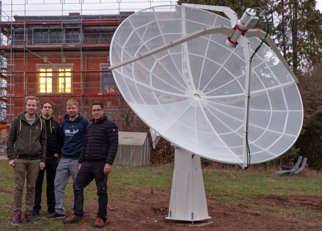 SPIDER 300A radio telescope in Karl Remeis Observatory: SPIDER 300A radio telescope ready for the first use!