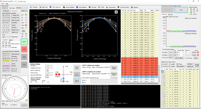 Radio astronomy at school with SPIDER radio telescopes: radio telescope automatic alignment on a radio source with RadioUniversePRO software