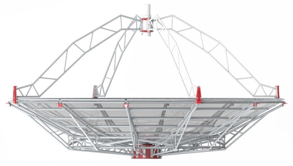 SPIDER 500A 5.0 meter diameter professional radio telescope: WEB500-5 5 meter antenna