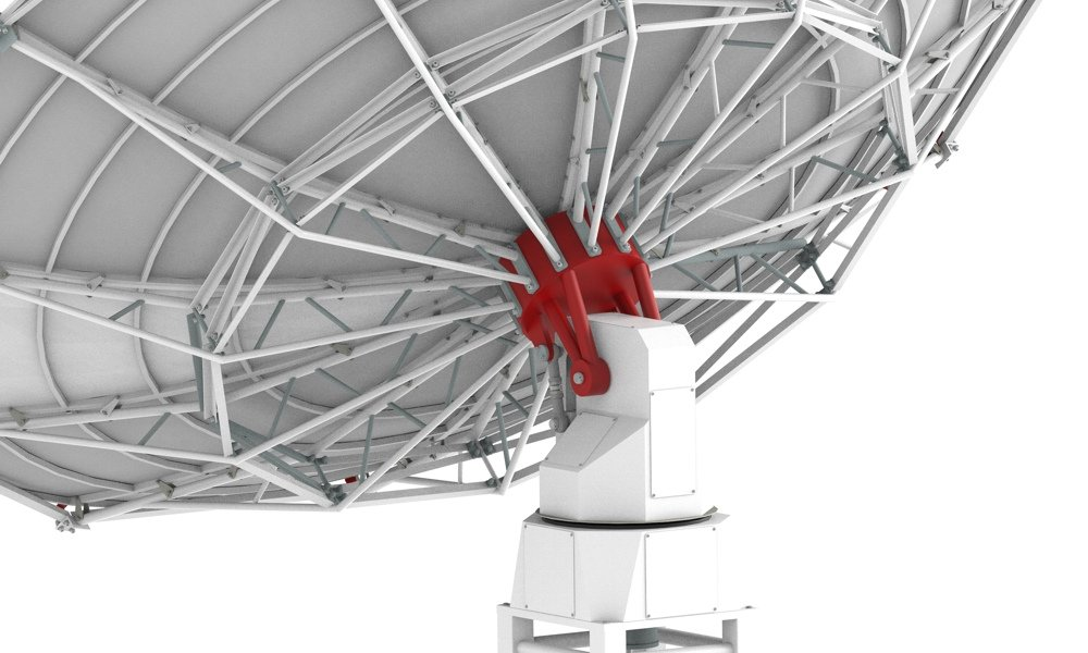 SPIDER 500A 5.0 meter diameter professional radio telescope: WP-400 weatherproof alt-az mount