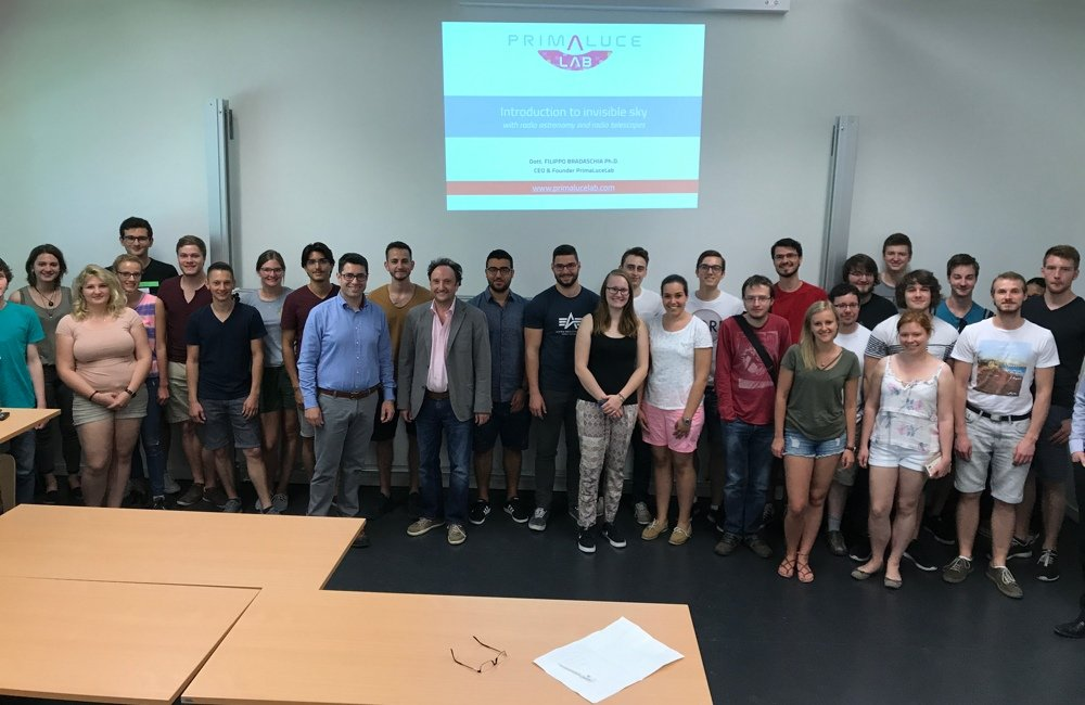 SPIDER 230C installed in Deggendorf Institute of Technology: at the end of introductory lesson on radio astronomy.