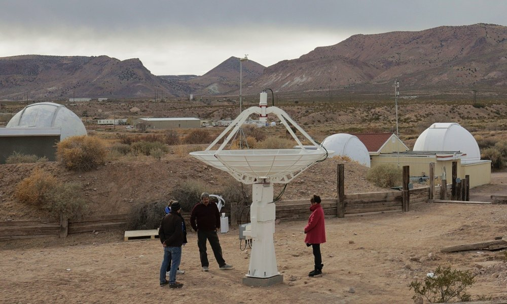 SPIDER 300A installato alla New Mexico Tech, vicino al Very Large Array