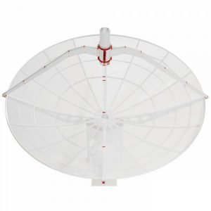 WEB300-5 3 meter prime focus parabolic antenna with supports