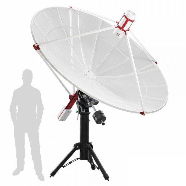SPIDER 230C 2.3 meter diameter compact radio telescope