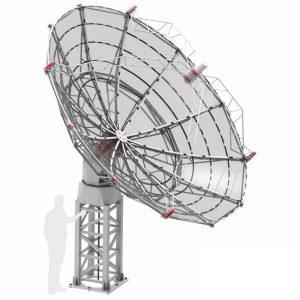 SPIDER 500A 5.0 meter diameter professional radio telescope