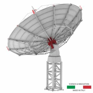 INTREPID 500S 5.0m S-band radio telescope as ground station