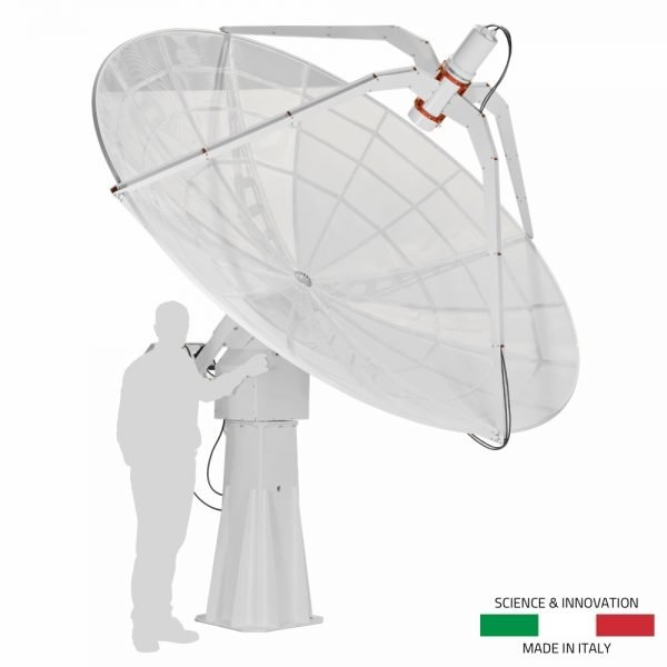 INTREPID 300 3.0m radio telescope as ground station For satellite communication