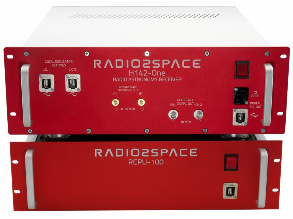 H142-One radio astronomy receiver with RCPU-100 for SPIDER 300A 3.0 meter advanced radio telescope