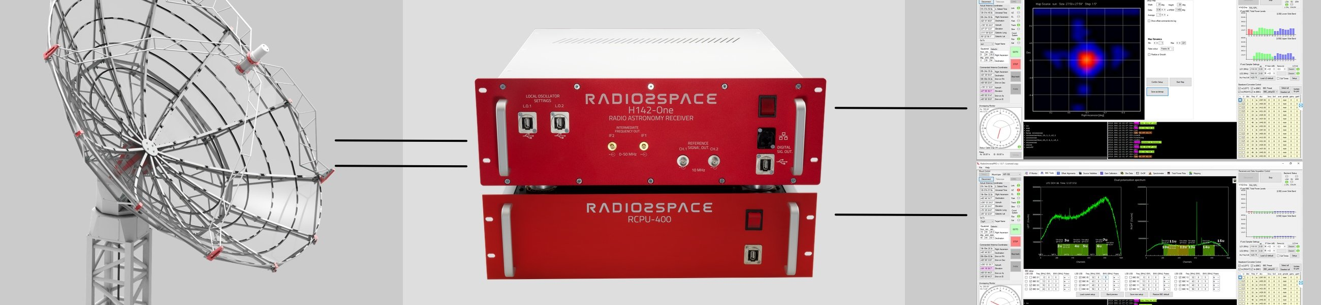 Radio2Space: radio telescopes technologies