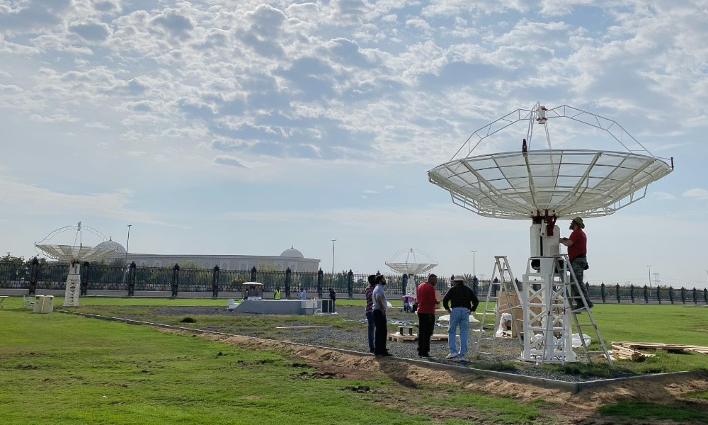 More SPIDER 500A radio telescopes installed in Sharjah Academy for Astronomy, Space Sciences & Technology: 3 SPIDER 500A installed
