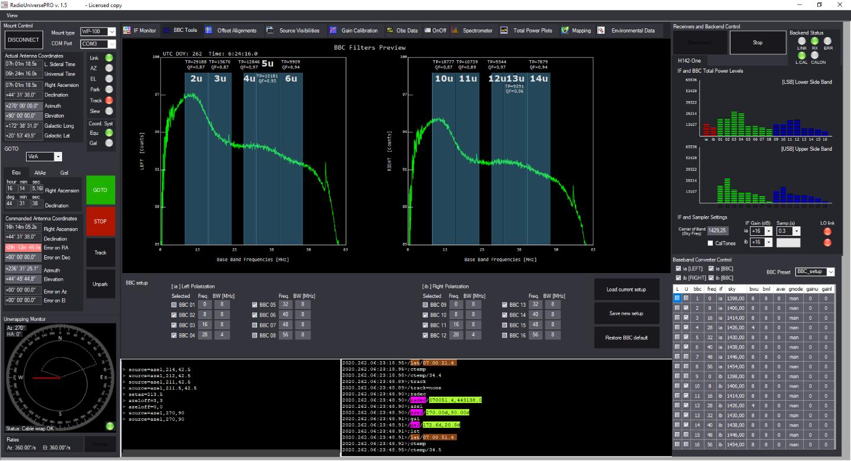 RadioUniversePRO software per radioastronomia e radiotelescopi: BBC Tool