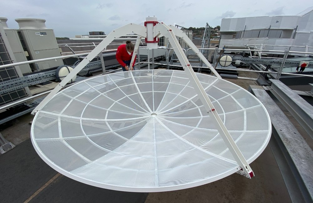 SPIDER 300A 3 meter radio telescope installed in University of Lincoln (UK): assembly of the 3 meter antenna