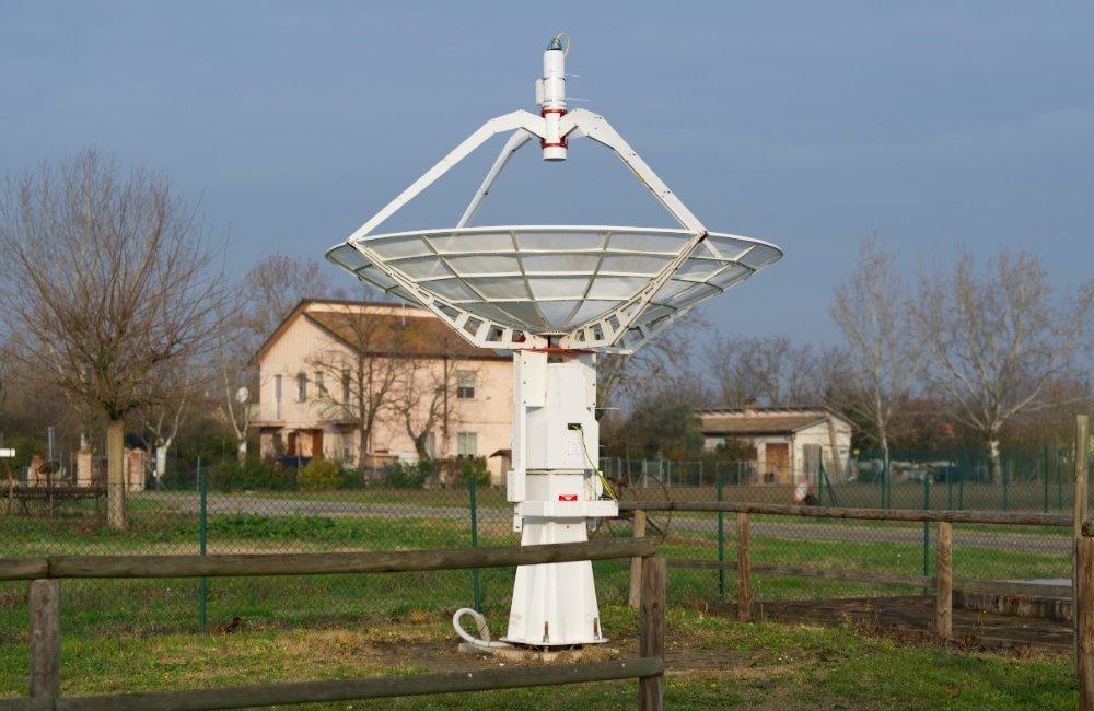 Upgraded SPIDER 300A radio telescope in Medicina radio telescopes Visitor Center.