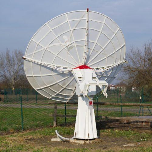 Upgraded SPIDER 300A radio telescope in Medicina radio telescopes Visitor Center: new WP-100 mount