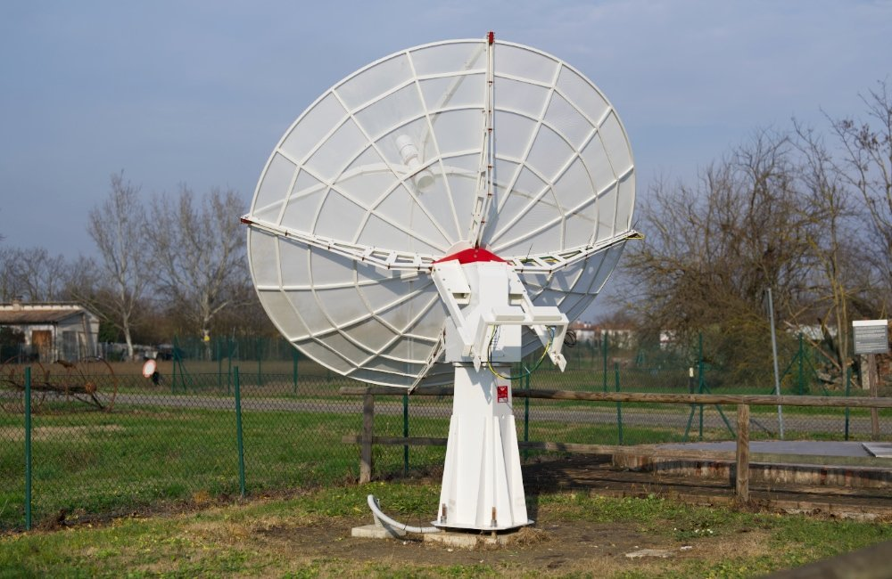 Upgraded SPIDER 300A radio telescope in Medicina radio telescopes Visitor Center