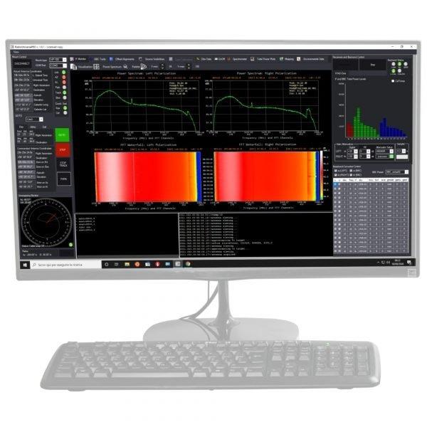 RadioUniversePRO software for radio astronomy and radio telescope