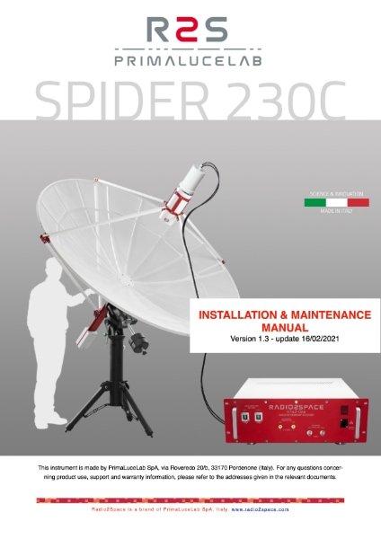 SPIDER 230C radio telescope installation and maintenance manual