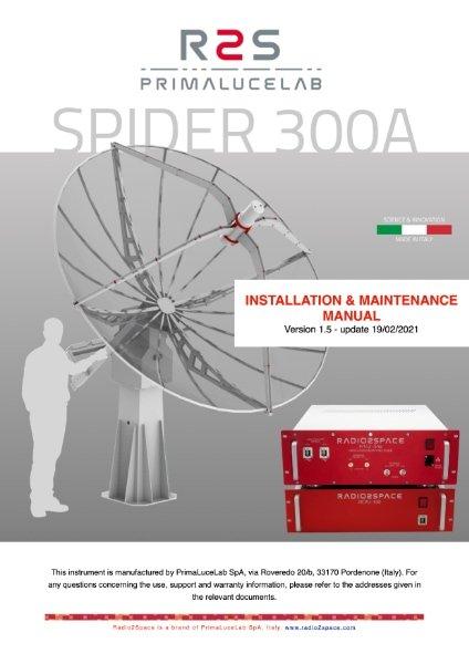 SPIDER 300A radio telescope installation and maintenance manual