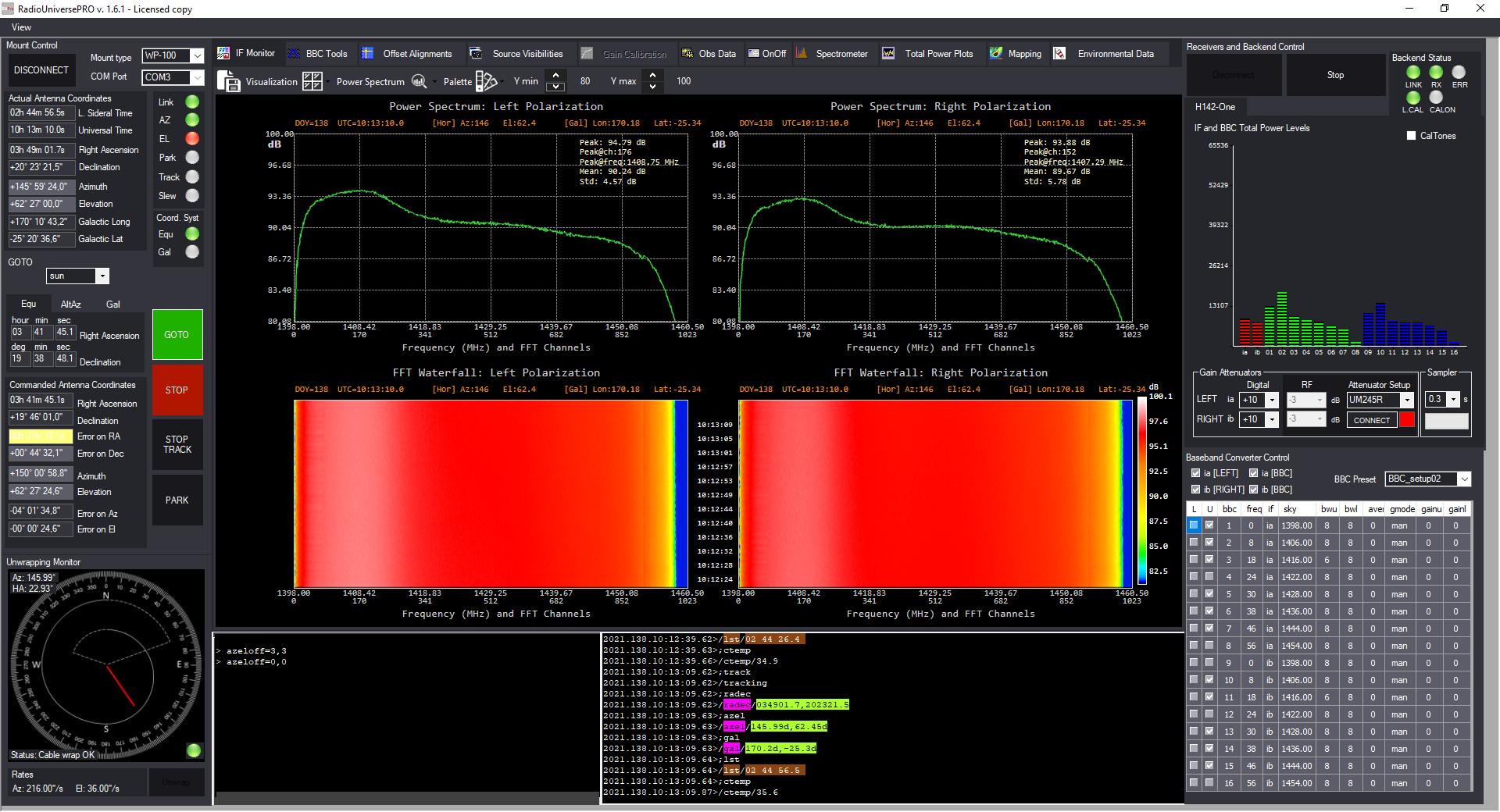 Emissione radio del Sole con i radiotelescopi SPIDER: software RadioUniversePRO e IF Monitor