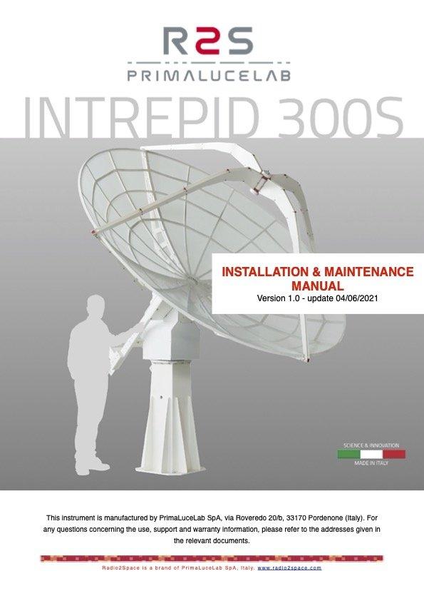 INTREPID 300S radio telescope installation and maintenance manual